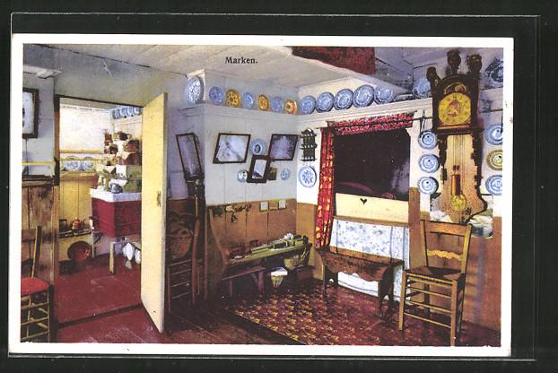 AK Marken, Teller an der Wand eines Hauses