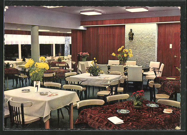 AK Hoevelaken, Café-Restaurant Kruispunt, Interieur Cafézaal,