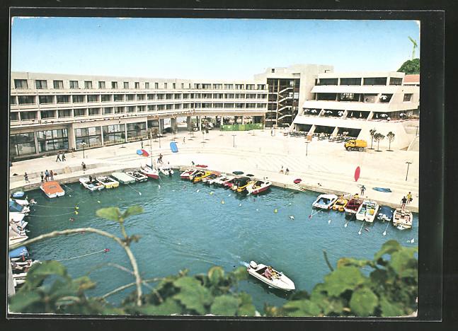 AK Portorose / Portoroz, Turisticno hotelsko naselje Bernardin, Hotelanlage St. Bernardin, Motorboote