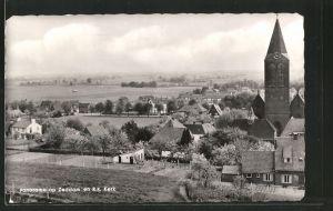 AK Zeddam, Panorama op Zeddam en R. K. Kerk
