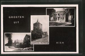 AK Hien, Dodewaard, Gemeentehuis, Dodewaard Ned. Herv. Kerk, Groenestraat Wely