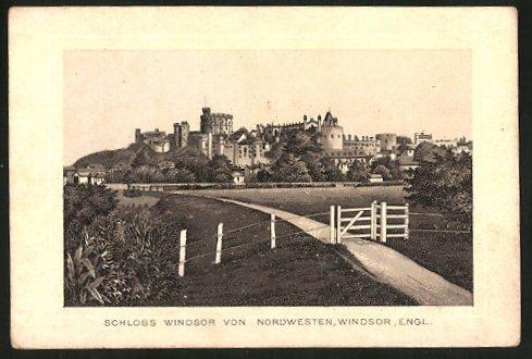 Sammelbild Windsor, Schloss Windsor von Nordwesten, Schicht's Patent-Seife, Georg Schicht Aussig a. E.