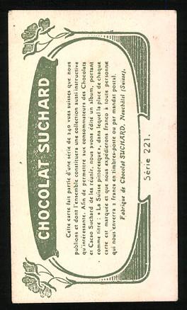 Sammelbild Mann aus Appenzell in Tracht mit Kuhglocken, Cacao & Chocolat Suchard 1