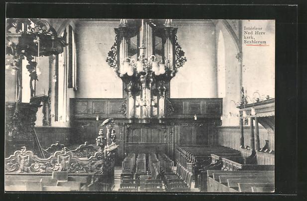 Ak sexbierum int rieur ned herv kerk nr 6515394 for Interieur niederlande