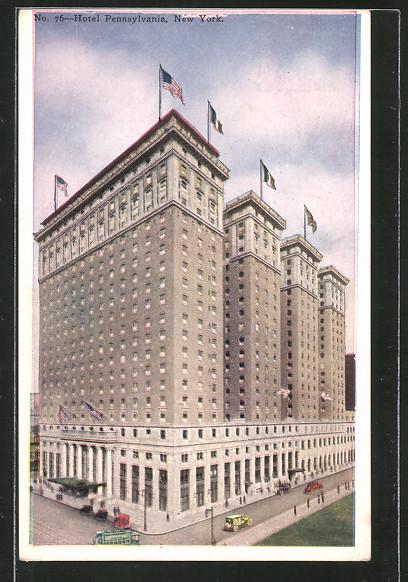Ak new york ny hotel pennsylvania nr 6520170 oldthing for Pennsylvania hotel new york haunted