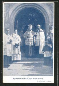 AK Nice, Monseigneur Louis Ricard, Evêque