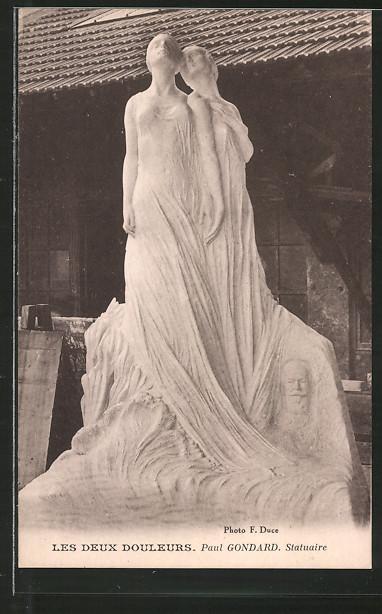 Künstler-AK Paul Gondard: Les Deux Douleurs, Skulptur