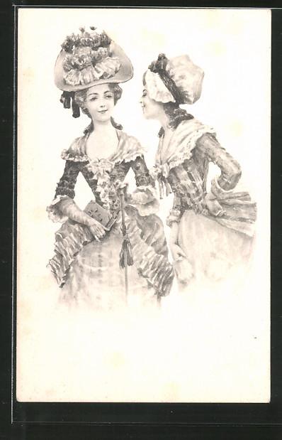 Künstler-AK Brüder Kohn (B.K.W.I) Nr. 730/1: junge Damen mit Hut