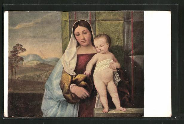 Künstler-AK Brüder Kohn (B.K.W.I) Nr. 413-14: Frau mit ihrem Kind