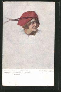 Künstler-AK Brüder Kohn (B.K.W.I) Nr.2329: Portrait einer Wienerin