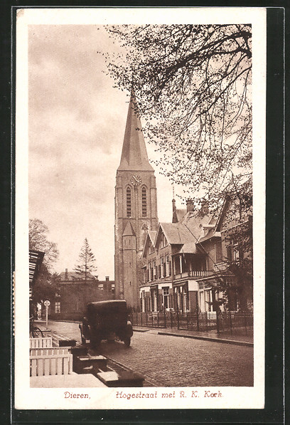 AK Dieren, Hogestraat met R. K. Kerk
