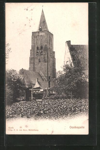 AK Oostkapelle, Kerk, Kirchenansicht