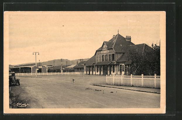 AK St-Aubin-les-Elbeuf, la Gare, Blick zum Bahnhof