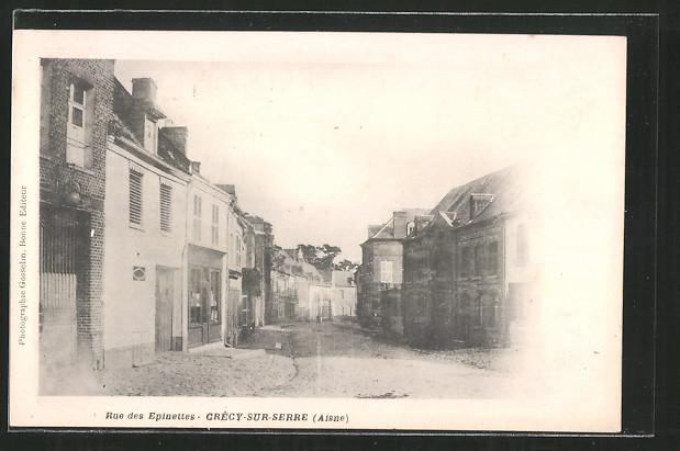 AK Crecy-sur-Serre, Rue des Espinettes