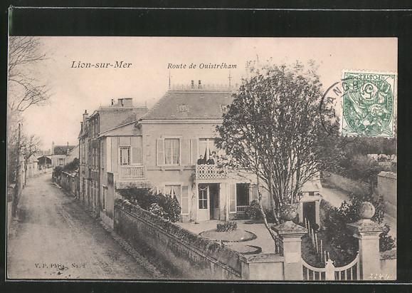 AK Lion-sur-Mer, Route de Ouistréham, Häuser