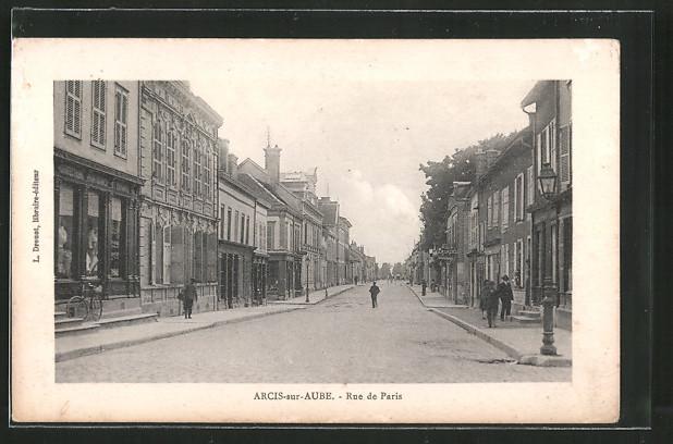 AK Arcis-sur-Aube, Rue de Paris