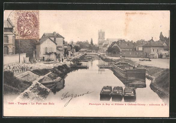 AK Troyes, le Port aux Bois