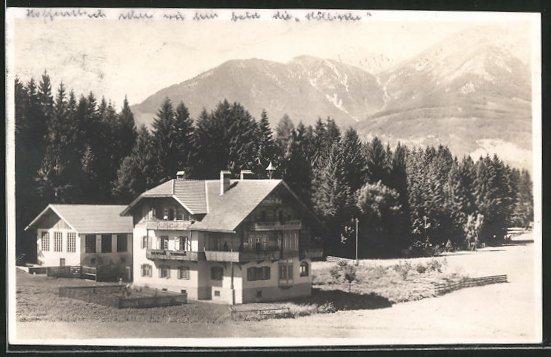 Foto-AK Igls, Pension Gruber-Hof, Milchwirtschaft