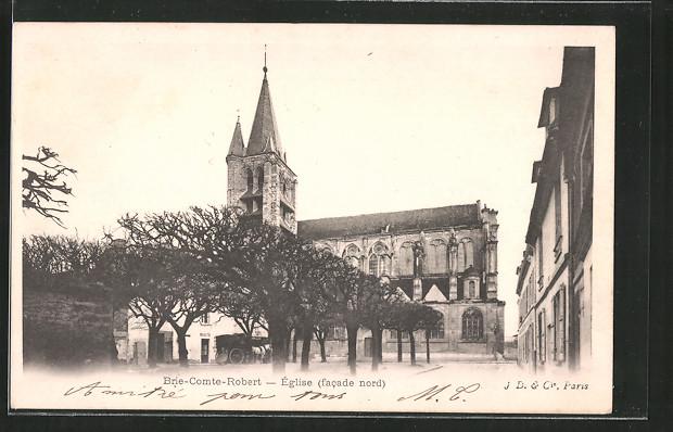AK Brie-Comte-Robert, l'église (facade nord)