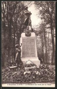 AK Provins, le monument aux morts pour la France