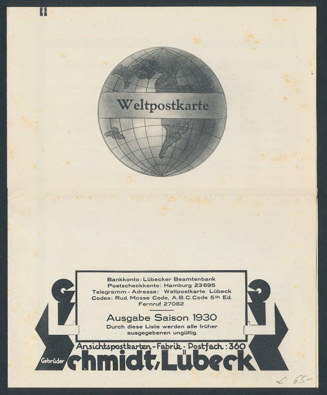 preisliste f r ansichtskarten 1930. Black Bedroom Furniture Sets. Home Design Ideas