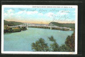 AK St. Marys, WV, Short Route Bridge Crossing Ohio River