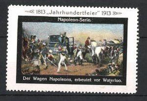 Reklamemarke Befreiungskriege, der Wagen von Napoleon erbeutet bei Waterloo