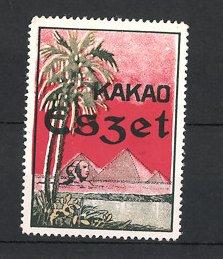 Reklamemarke Eszet Kakao, Pyramiden & Sphynx bei Giseh