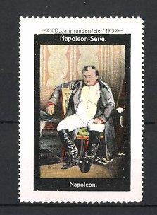 Reklamemarke Befreiungskriege, Portrait Kaiser Napoleon Bonaparte