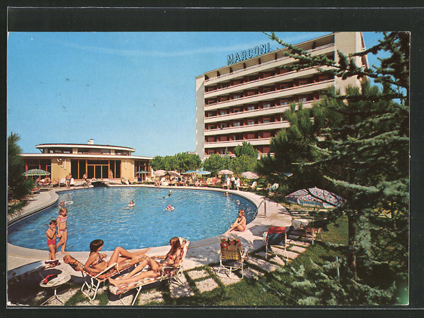 Ak ansichtskarte montegrotto terme hotel terme antoniano kat nr bx21941 oldthing italien - Piscine termali montegrotto ...