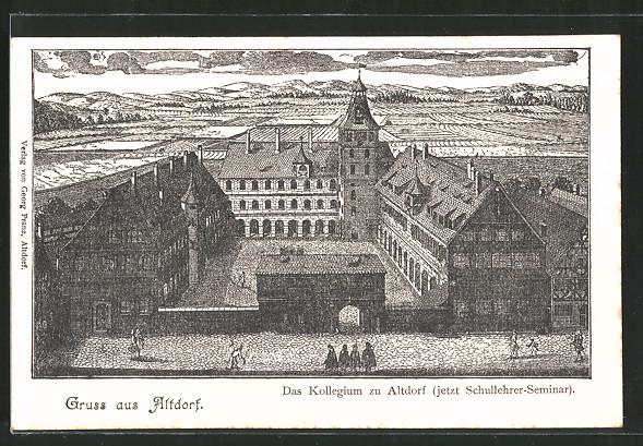 AK Altdorf, Kollegium, jetzt Schullehrer-Seminar