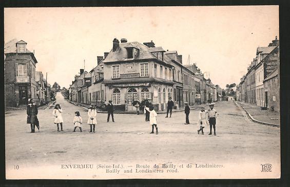 AK Envermeu, Route de Bailly et de Londinières, Bailly and Londinières road, cafe restaurant