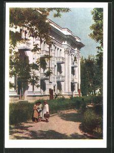 AK Stalinabad, Wohnhaus auf der Leninstrasse