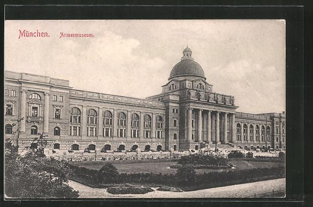 AK München, Armeemuseum, Aussenansicht