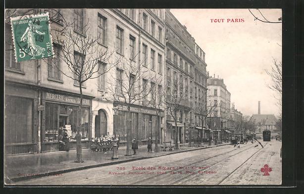 AK Paris, Ecole des Soeurs, Avenue Parmentier
