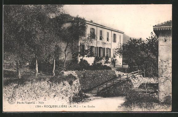 AK Roquebillière, les Ecoles Communales