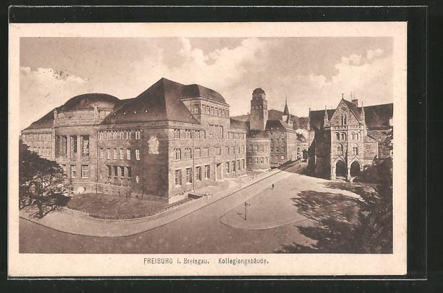 AK Freiburg, Partie am Kollegiengebäude