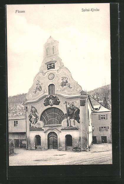 AK Füssen, Fassade der Spital-Kirche
