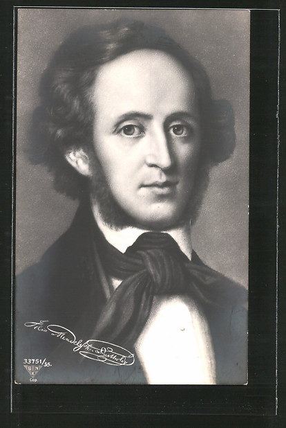 AK Portrait des Musikers Felix Mendelsohn-Bartholdy