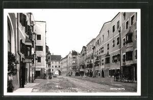 AK Rattenberg, Strasse mit Kutsche und Tor