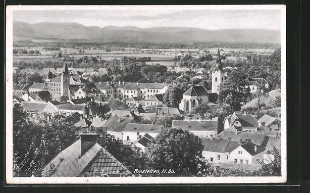 AK Amstetten, Teilansicht mit Kirche