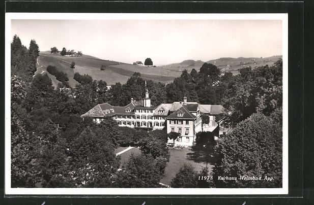 AK Weissbad, Blick auf das Kurhaus