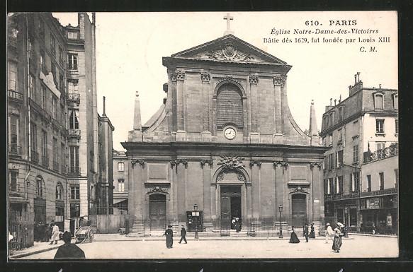 AK Paris, Église Notre-Dame-des-Victoires
