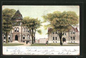 AK Providence, RI, Sayles and Wilson Halls - Brown University