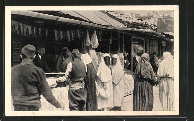 AK Sarajewo, Carsija, Türken auf dem Basar