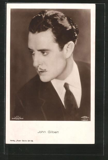 AK Schauspieler John Gilbert im Halbprofil
