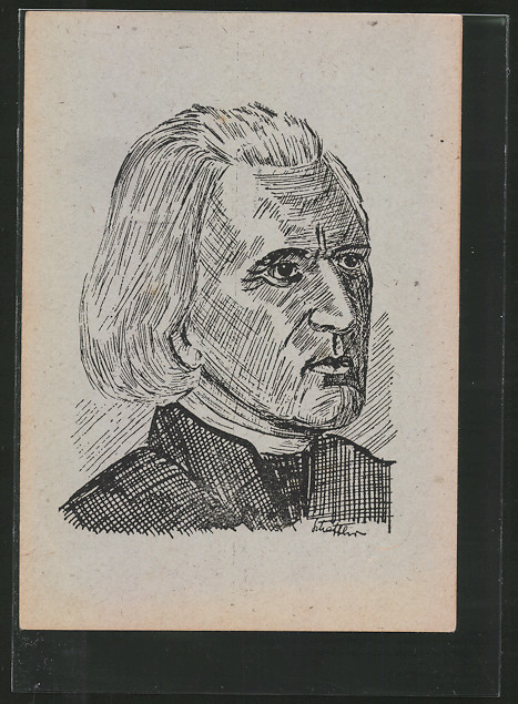 AK Portrait des Komponisten Franz Liszt