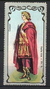 Reklamemarke Portrait Caesar, Kaiser Römisches Reich