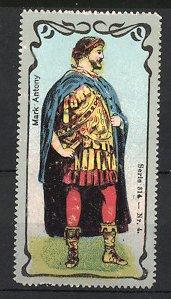 Reklamemarke Portrait Mark-Antony, Kaiser von Rom