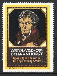 Reklamemarke Befreiungskriege, Portrait General Scharnhorst
